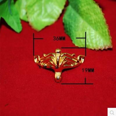 10pcs golden Jewelry Box Feet Animal Box Leg 19*36mm(China (Mainland))