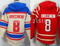 2014 New Washington #8 Alex Ovechkin NHL Men Ice Hockey Hoodies Jersey Hockey Hooded