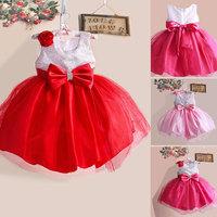 Free shipping new 2014 autumn girls casual princess dress kids cotton Lace sleeveless dress