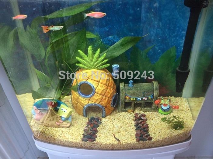 Online get cheap spongebob aquarium ornaments aliexpress for Aquarium decoration set