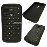 For Motorola Moto G / DVX / XT1032 Case Cape , Luxury Diamond Bling Armor Shockproof Dirt Dust Proof Back Cover