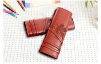 Anime EVA Evangelion Creative Stationery School supplies Pencil Bag Cosmetic PU Leather Pencil case storage bag