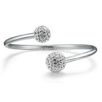 Christmas gift Korean star the same paragraph, 925 silver Set auger bracelet bracelet female models silver jewelry,free shipping