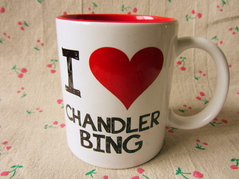 Friends tv show i LOVE CHANDLER BING mug(China (Mainland))