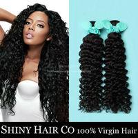 4pcs/lot Grade 6A Peruvian Virgin Hair Deep Wave Human Hair Weave Bundles Unprocessed Peruvian Deep Wave Virgin Hair Extension