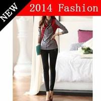 2014 new fashion autumn crop top printed cotton t shirt women casual dress blusas femininas renda brand woman clothes 1028LX