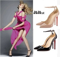 women high heels pumps shoes 12cm high-heeled shoes thin heels pumps sexy pointed toe fashion ol red sole pumps women shoes