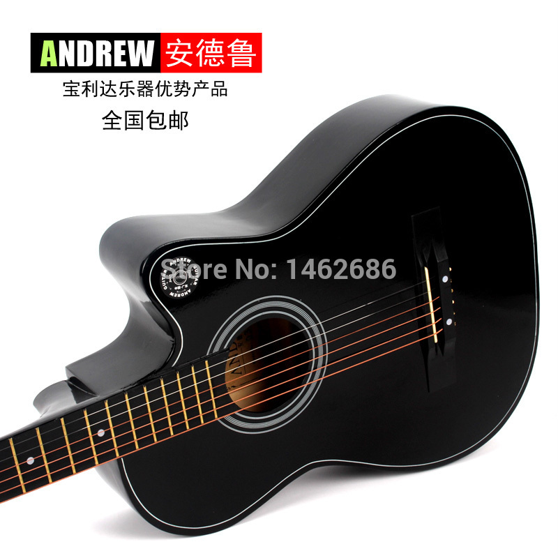 The new 38 -inch Andrew genuine musical instrument acoustic guitar beginners guitar practice nationwide shipping(China (Mainland))