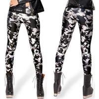 2014 New Fashion Women Black Jeggings Sexy Graffiti Slim 3D Printed Leggings Pencil Pants Digital Printing Hot L46
