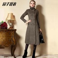 2014 WOMEN winter elegant woolen outerwear lengthen cashmere overcoat lady X-LONG jacket