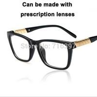I-bright 2015 New arrival 8 Colors Fashion Men/women big square frame eyeglasses myopia prescription reading glasses frame