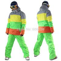 [Colorful] Free Shipping!! 2015 NEWS Gsou snow Men 10K Waterproof SKI JKT Snowboard Coat /SKI JACKETS Leopard: S-XL