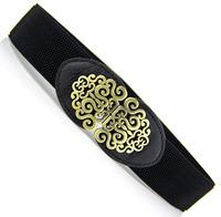 Fashion royal vintage cutout flower women's elastic waist cummerbund sweet decoration cronyism