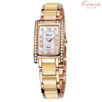 Free Ship KIMIO Brand Women Dress Watch,Ceramic Bracelet Rhinestone Watch, Quartz Women Wristwatches, KW510