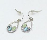 Cat Eye Stone Dangle Earrings ls