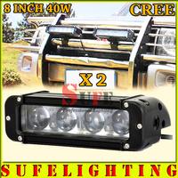 FREE DHL SHIPPING NEW 2PCS 8 INCH 40W CREE LED LIGHT BAR FOR OFF ROAD LIGHT BAR FLOOD SPOT LED DRIVING LIGHT LED BAR LIGHT