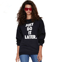 Fall Fashion Rib loose Jogging pullover guard garments Letters printed tops hoodies Free transport