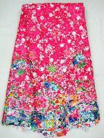 multicolor guipure with print,cord lace fabric,Water soluble , J311-6,fushia