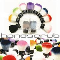 Free shipping 11 colors nylon hair blusher brush / nail clean brush nail care tools