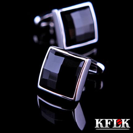 Kflk luxo 2014 HOT shirt abotoaduras para mens abotoaduras de alta qualidade marca botões de punho preto gemelos abotoaduras jóias(China (Mainland))