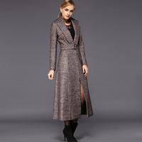 2014 winter woolen outerwear ultra long female woolen overcoat LADY X-LONG jacket