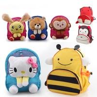 AC508 SALE HOT PRICE cute sweet cartoon prints Nylon children kid baby boy girl school backpack bag