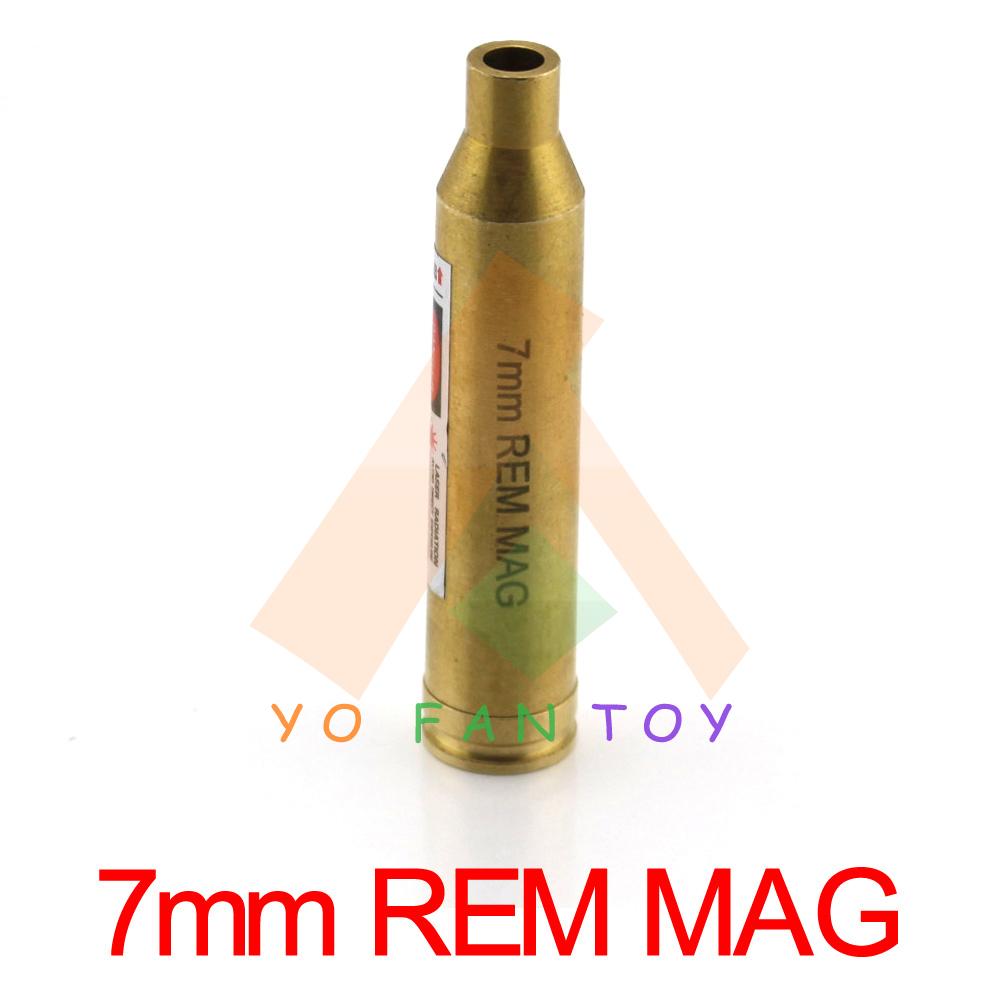 7mm REM MAG Catridge Red Laser Bore Sighter 7mm Catridge Laser Boresight Copper Hunting 7mm Laser Red Dot(China (Mainland))