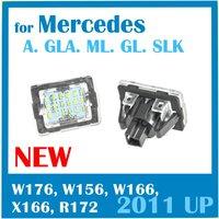 LED License Plate Lamp for Mercedes-Benz A class GL GLA SLK ML class W176 W156 W166 X166 R172