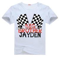 Big Brother  Checkered Flag Kids Racing Motorcross Tee t shirt for kid Boy Girl clothing  top  clothes cartoon tshirt Dress