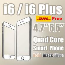 "Goophone i6 + i6 teléfono plus 4.7 "" 5.5inch mtk6592 núcleo octa núcleo MTK6582 Quad 2GB RAM 1920 * 1080 pantalla FHD 3G GPS alu 8.0 metal 4G(China (Mainland))"