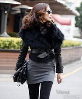 2014 New Fashion Autumn and Winter Female Vest All Match Elegant Women's Slim Short Fake Artificial Fur Vest With Belt