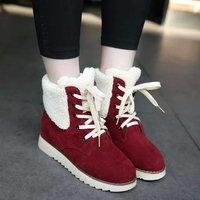 Fall/winter 2014 new Korean version of lambs wool cuffed warm fashion snow boots