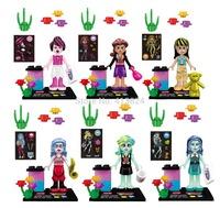 JLB 6pcs/lot girls friends characters minifigures friends block toys,girls block toy bricks,super hero bolck
