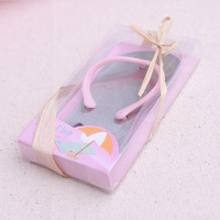 Free shipping 100pcs/lot Beach Wedding Gifts Pink Flip Flop bottle opener Wholesale For wedding favors party favors