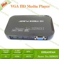 HDD VGA MultiMedia Player USB HDD/SD/MS MP3 DIVX DVD-RM/RMVB for TV Video Player 1080P HDMI Hard Disk Player+Free Shipping