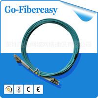 On sale 5pcs/lot  5m LC-LC OM3 Fiber Optical Jumper Patch Cord MultiMode Aqua 10gig 50/125 micrometer MM Duplex Core