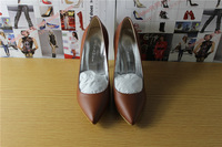 2014 new Casade coffee leather Pointed Toe Blade Stiletto Pumps/shoes women genuine leather shoes/pumps free shipping