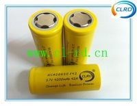 Free shipping 30pcs/lot high power tool 26650 rechargeable battery NCA26650 4200mah 42amp genuine
