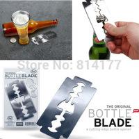 Free Shipping Creative blade bottle opener Razor metal beer bottle opener Can opener