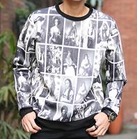 HOT graffiti mens sweatshirts print Mona Lisa mens Hoodies fashion vintga style mens jacket free shipping XXXL