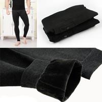 Male Warm Sexy Tights Thermal Underwear Mammoth Long John for Men Leggings Long Under Wear