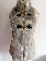 Quality ultra soft  rabbit fur women's vest