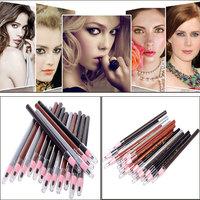 Women Trendy Long Lasting Eyebrow Pencil Eye Brow Pen Soft Crayon Waterproof Eyebrow Eyeliner Makeup Pencil Make Up Lady Beauty