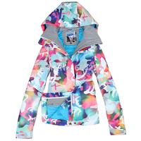 Free Shipping!! 2015 NEW Women 10K Waterproof SKI JKT Snowboard Coat /ski winter coat/ski jacket Gsou snow Rainbow Camouflage