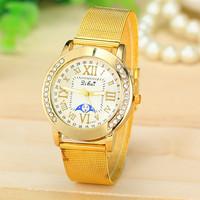 5 Different Styles New Fashion Women Dress Watch Gold Band Watch Women Ladies Quartz Watch AW-SB-1140