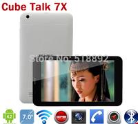 Cube Talk 7X U51GT-W 3G Tablet PC MTK8382 quad Core 7 inch IPS 1024x600 Android 4.2 Dual SIM GPS OTG Bluetooth FM talk7x