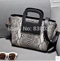 2014 European and American fashion new winter serpentine handbag shoulder diagonal package big handbags