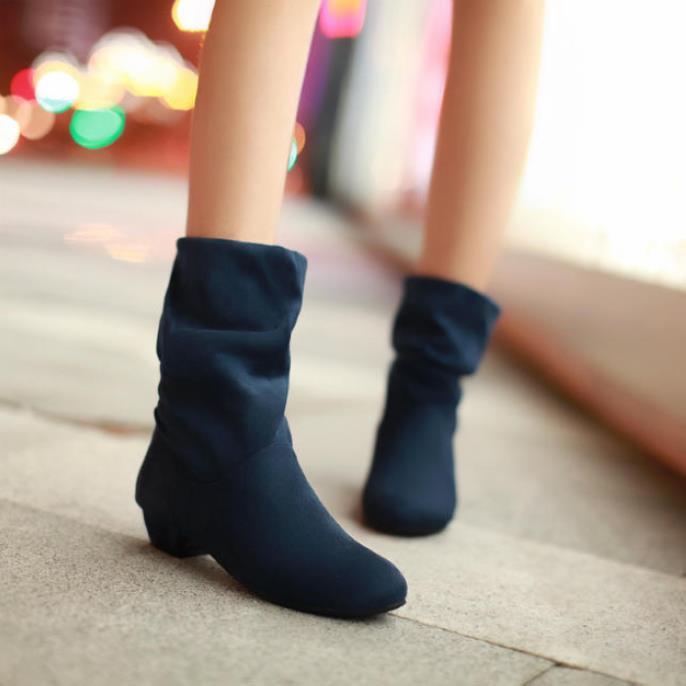 2014 nouvelle livraison gratuite mode martin bottes de femmes printemps automne chaussures pour femmes bottes talon épais élastique femmes bottes courtes