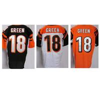 18 A. J. Green jersey Amercian football jerseys Cincinnati Green jerseys size M-XXXL mixed order free shipping elite mens jersey