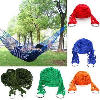 270 x 80 см портативный высокое качество армия нейлон гамак висит сетка сети кровать качели на открытом воздухе отдых путешествия 5 цвета